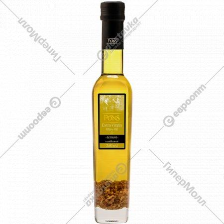 Масло оливковое «Pons» нерафинированное с лимоном, 0.25 л.