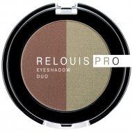 Тени-пигмент для век «Relouis» Pro Eyeshadow Duo, тон 110, 3 г.