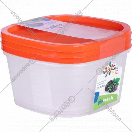 Набор контейнеров «SparkPlast» biofresh, 3 шт.