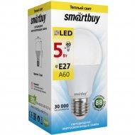 Лампа cветодиодная «Smartbuy» A60, 5W, 3000, E27.
