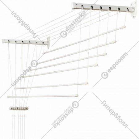 Сушилка для белья «Comfort Alumin» Лифт, стеновая, 6 прутьев, 1.2 м