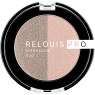 Тени-пигмент для век «Relouis» Pro Eyeshadow Duo, тон 112, 3 г.
