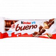 Вафли «Kinder» Bueno, молоко и лесные орехи, 43 г.