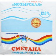 Сметана «Мозырская» 12 %, 400 г.