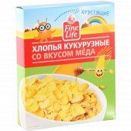 Хлопья кукурузные «Fine Life» со вкусом меда, 250 г.