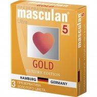 Презервативы «Masculan» gold, размер 5, 3 шт.