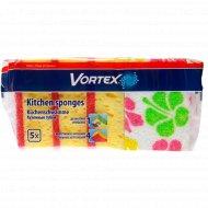 Губка кухонная «Vortex» с принтом, 5 шт.