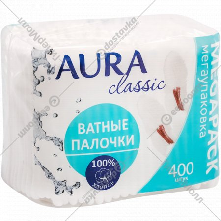 Ватные палочки «Aura» 400 шт.