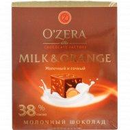 Шоколад молочный «O'zera» с апельсином, 90 г.