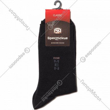 Носки мужские «Брестские» чёрные, 25 размер.