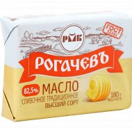 Масло сливочное «Рогачёвъ» традиционное, 82.5%, 180 г.
