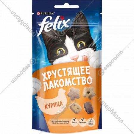 Лакомство хрустящее «Felix» со вкусом курицы, 60 г.