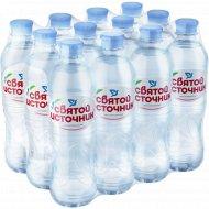 Вода питьевая негазированная «Святой источник» 12 штх0.5 л.