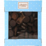 Печенье сахарное «Триумф» с черным какао и начинкой, 650 г.