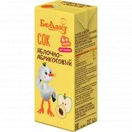 Сок «Беллакт» яблочно-абрикосовый, 0.2 л.