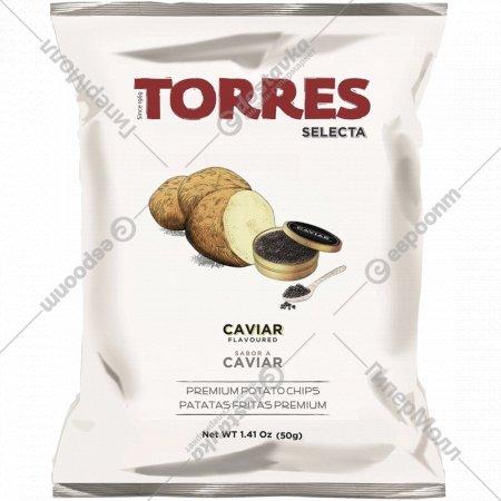 Чипсы картофельные «Torres» со вкусом черной икры, 50 г.