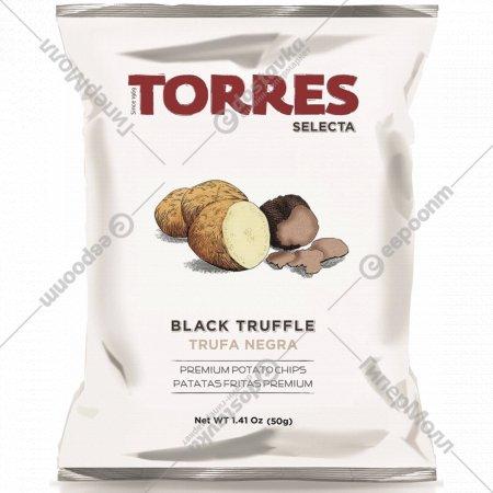 Чипсы картофельные «Torres» с черным трюфелем, 50 г.