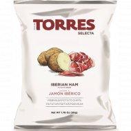 Чипсы картофельные «Torres» со вкусом хамона, 50 г.