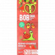Конфеты яблочно-клубничные «Bob Snail» натуральные, 30 г.