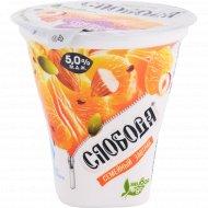 Биойогурт «Слобода» мандарин, мюсли и орехи, 5%, 250 г