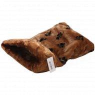 Лежанка-мешок для животных с окантовкой «Лапки» 45х65х25 см.