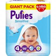 Подгузники для детей «Pufies» Sensitive Maxi, 9-14 кг, 88 шт.