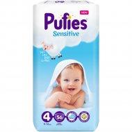 Подгузники для детей «Pufies» Sensitive Maxi, 9-14 кг, 56 шт.