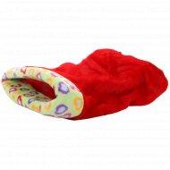 Лежанка-мешок для животных «Happy Friends» мех красный, 45х85х25 см.