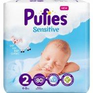 Подгузники для детей «Pufies» Sensitive Mini, 4-8 кг, 80 шт.