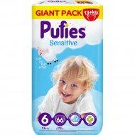 Подгузники для детей «Pufies» Sensitive Extra Large, размер 6, 13+ кг, 66 шт