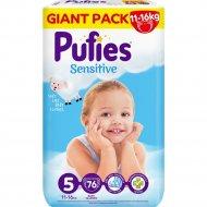 Подгузники для детей «Pufies» Sensitive Junior, 11-16 кг, 76 шт.