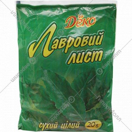 Лавровый лист «Deko» целый 20г.