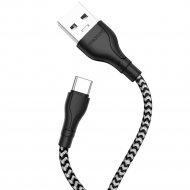 USB-кабель «Вorofone» BX39, Type-C,черно-белый