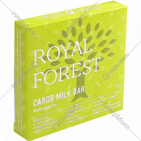 Шоколад «Royal Forest» миндаль, 75 г.