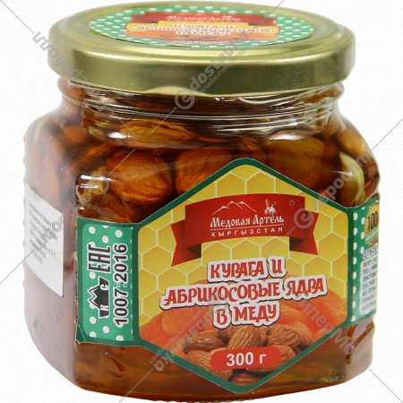Курага и абрикосовые ядра в меду «Медовая Артель» 300 г.