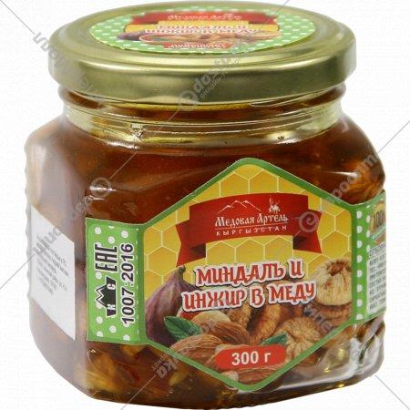Миндаль и инжир в меду «Медовая Артель» 300 г.