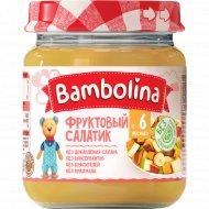 Пюре «Bambolina» Фруктовый салатик (банан, груша, персик), 100 г