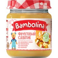 Фруктовый салатик «Bambolina» банан, груша, персик, 100 г.