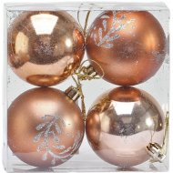 Набор шаров декорированных 6 см, 4 шт.