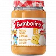 Пюре «Bambolina» из яблок и банана, со сливками, 190 г.