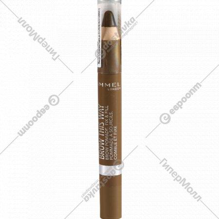 Помада-карандаш для бровей «Rimmel» тон 001, 3,25 г.