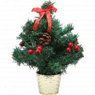 Украшенная новогодняя елка 30 см.