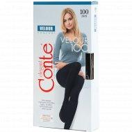 Колготки женские «Conte» velour, 100 den, nero, 4