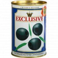 Маслины чёрные «Exclusive» без косточки, 390 г.