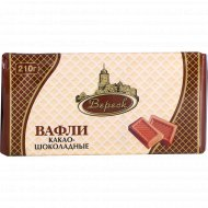 Вафли «Невские» какао-шоколадные, 210 г.