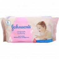 Салфетки влажные «Johnsons baby» нежная забота 64 шт