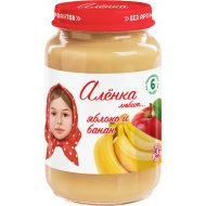Пюре «Алёнка любит» яблоко и банан, 170 г.