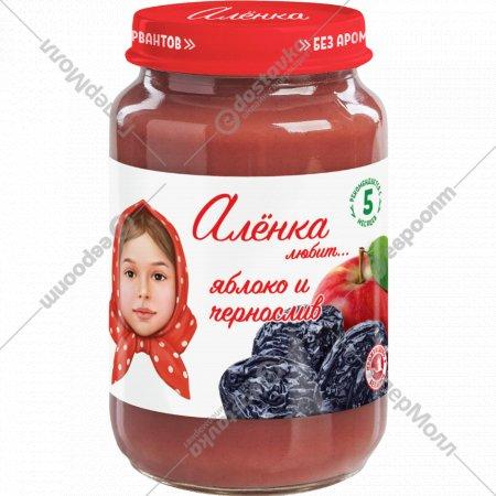 Пюре «Алёнка любит» яблоко и чернослив, 170 г.