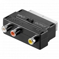 Переходник SCART штекер 3хRCA «GoldMaster» с переключателем.
