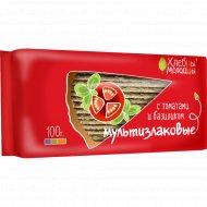 Хлебцы «Хлебцы-Молодцы» мультизлаковые с томатами и базиликом, 100 г.